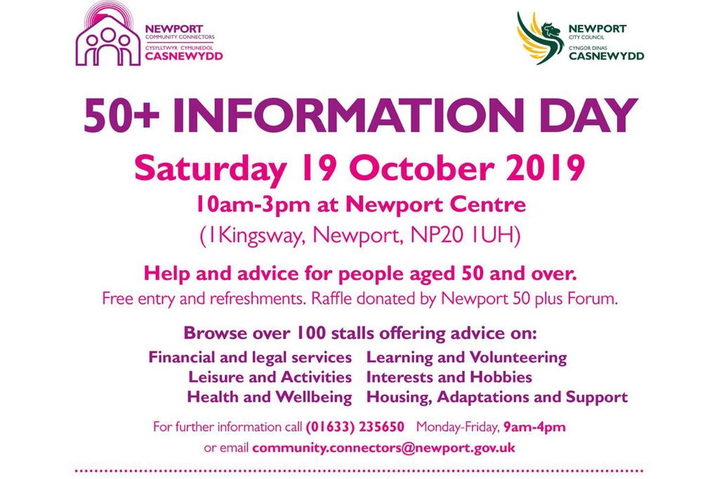 50+ information day at Newport