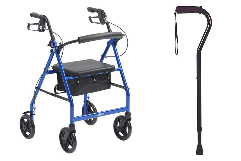 Middletons rollator and walking cane