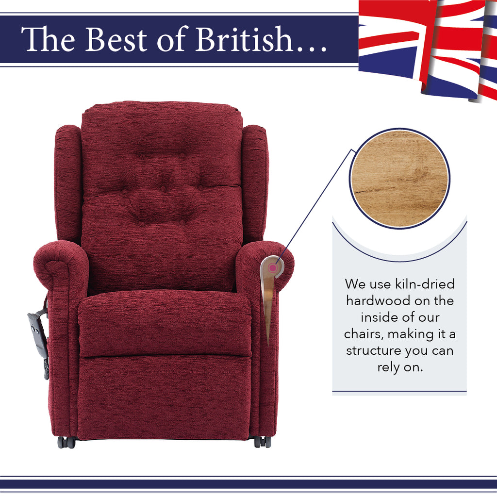 Middletons rise and recline chairs made from quality Beech wood