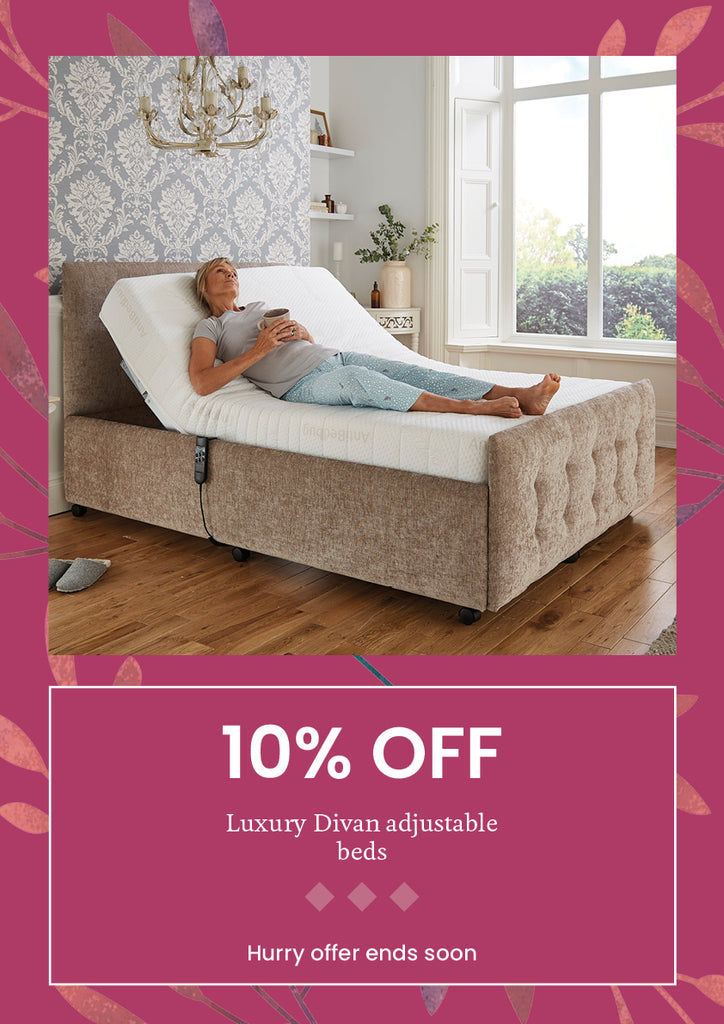 10% off adjustable beds in middletons exclusive autumn offers