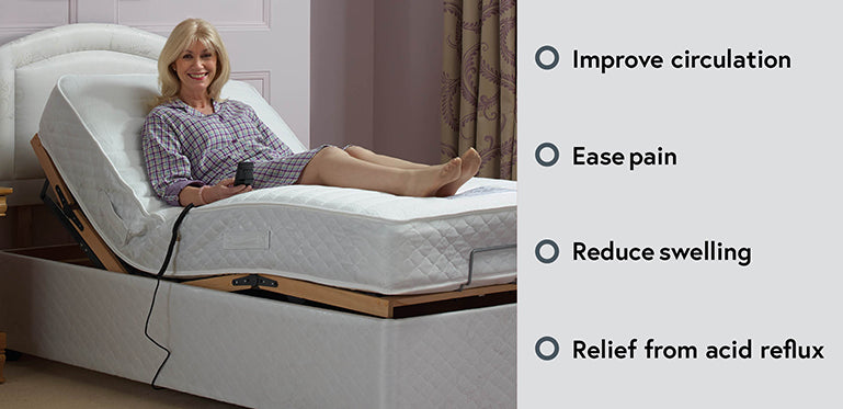 An adjustable bed could improve your circulation, ease pain, reduce swelling, and provide relief from acid reflux