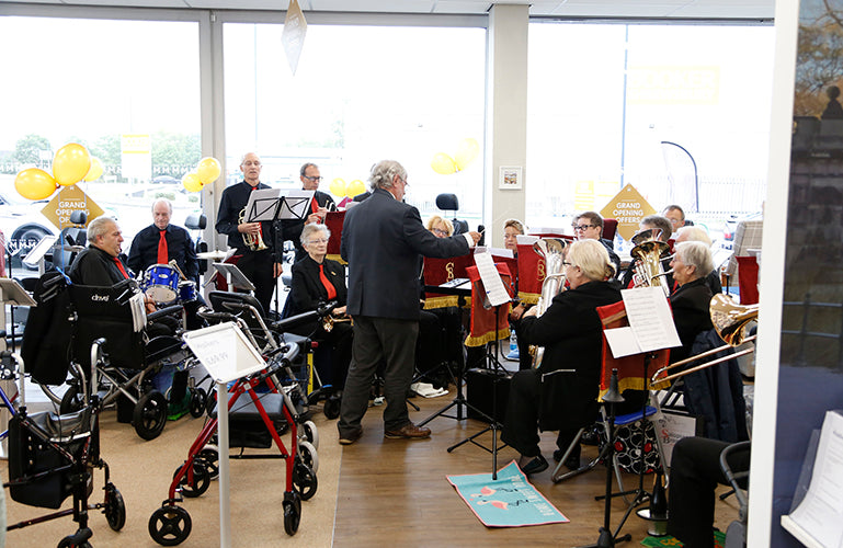 Image shows local brass band Salopian Brass
