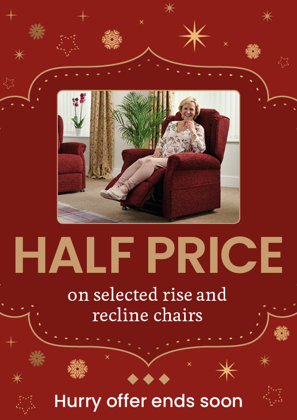 Half price off rise and recline chairs this christmas