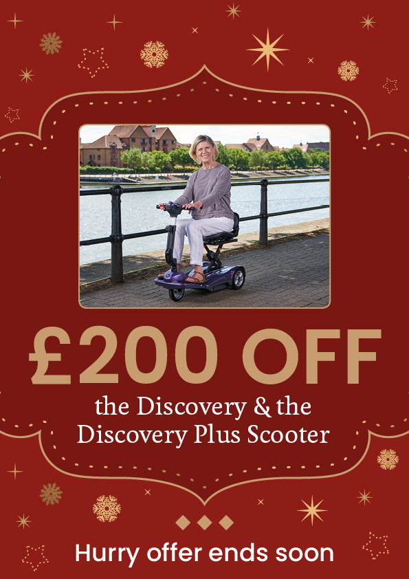 Save £200 off the discovery or discovery plus mobility scooterthis christmas
