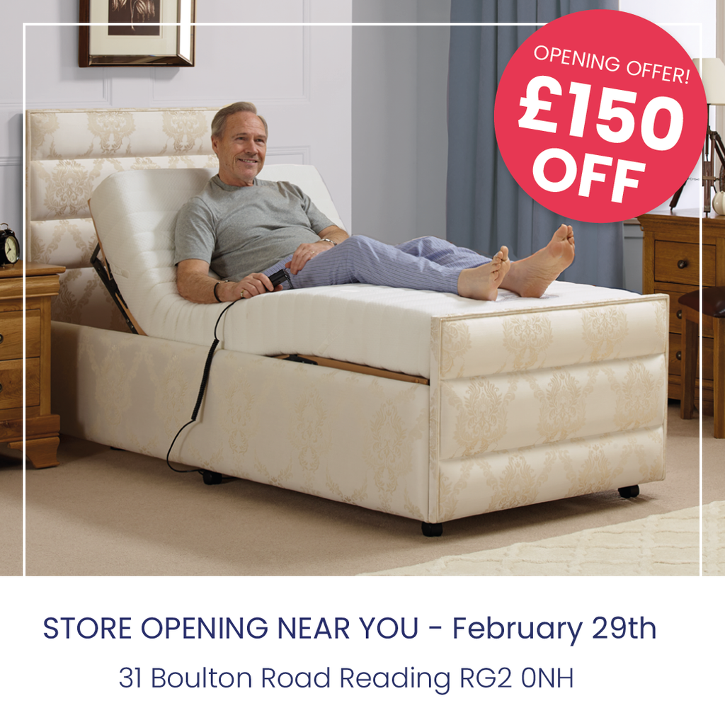 £150 off all luxury divan adjustable beds at Middletons reading store opening