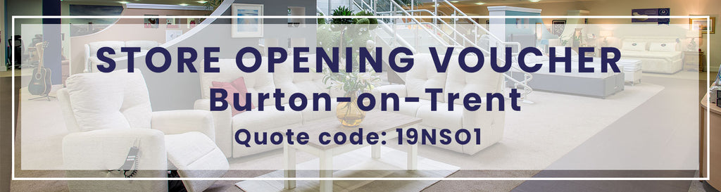 Store opening voucher for burton-on-trent