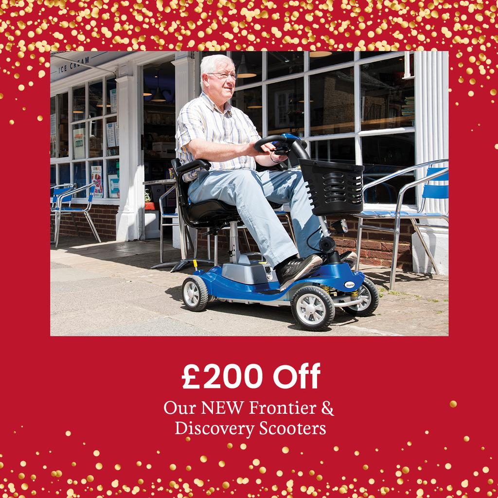 Get £200 off the New Frontier and Discovery Mobility Scooters