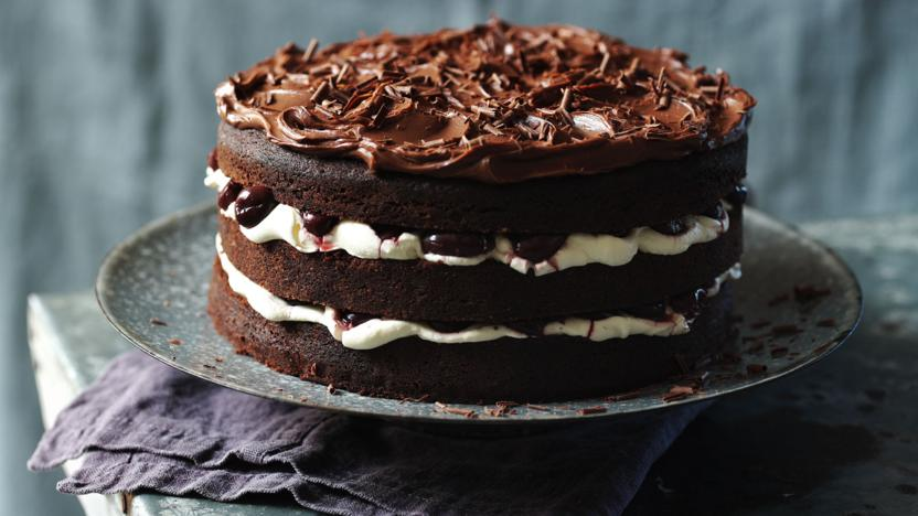 Image of a traditional Black Forest gateau