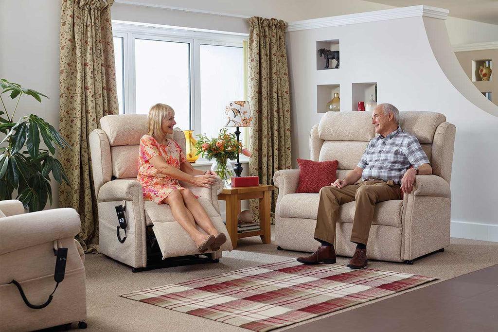 Middletons rise and recline chair fabric care