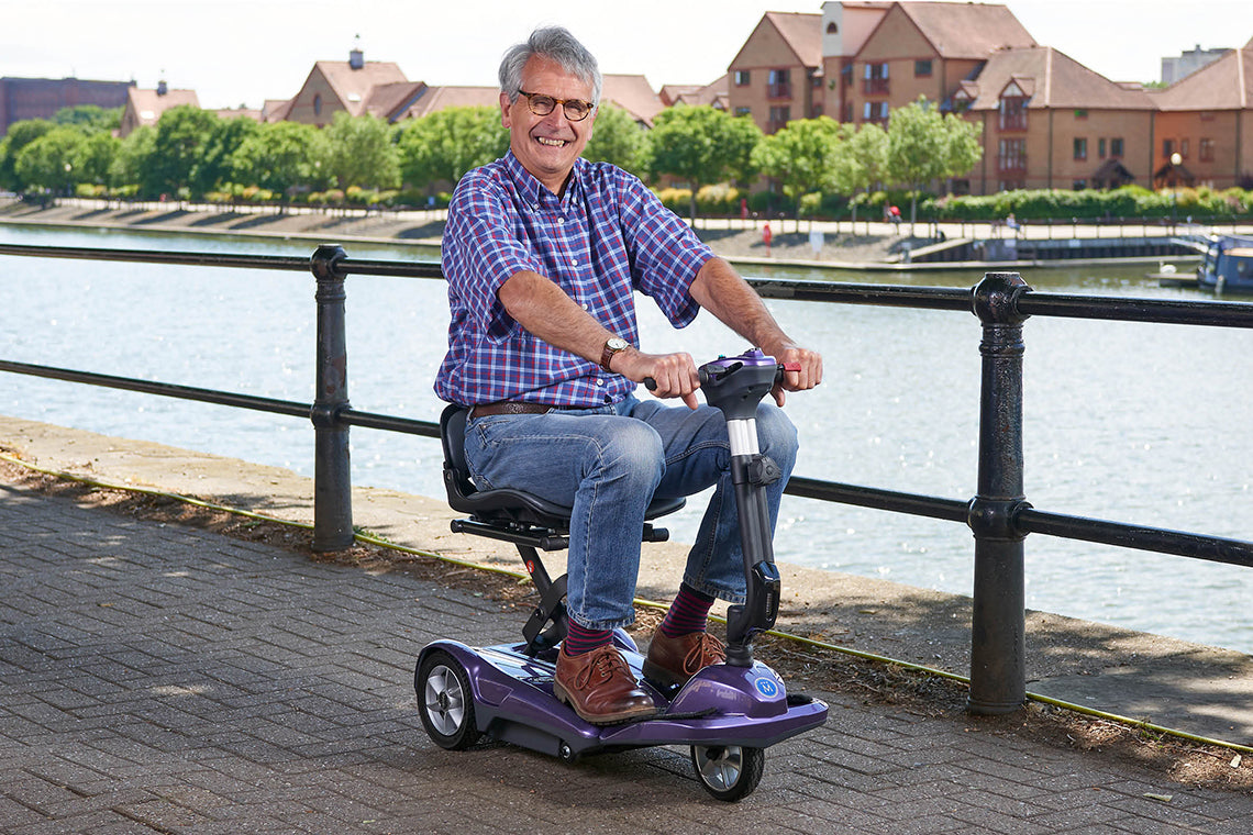 Image of Middletons folding Discovery portable mobility travel scooter
