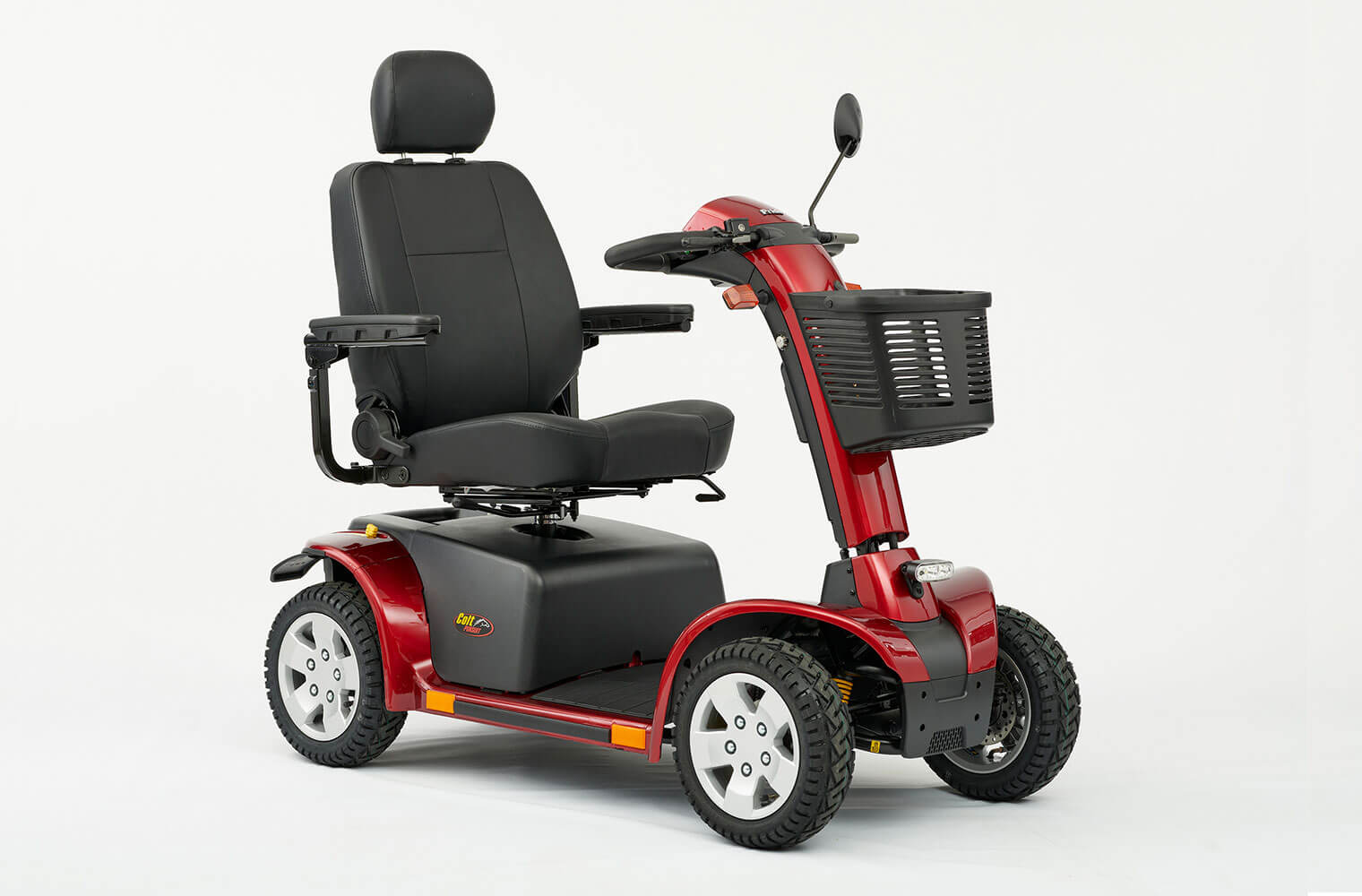 An image of Colt Pursuit 8mph Road Mobility Scooter With Chunky Pneumatic Tyres from Middlet...