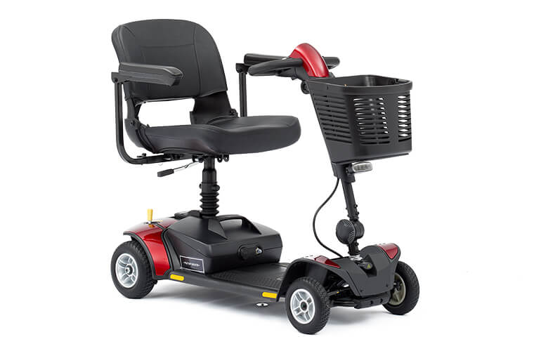 An image of Lightweight Portable GoGo Elite Traveller LX Mobility Scooter Red