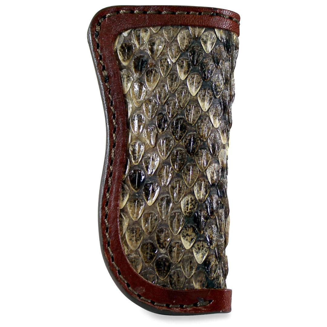 Knife Sheath with Rattlesnake In-lay