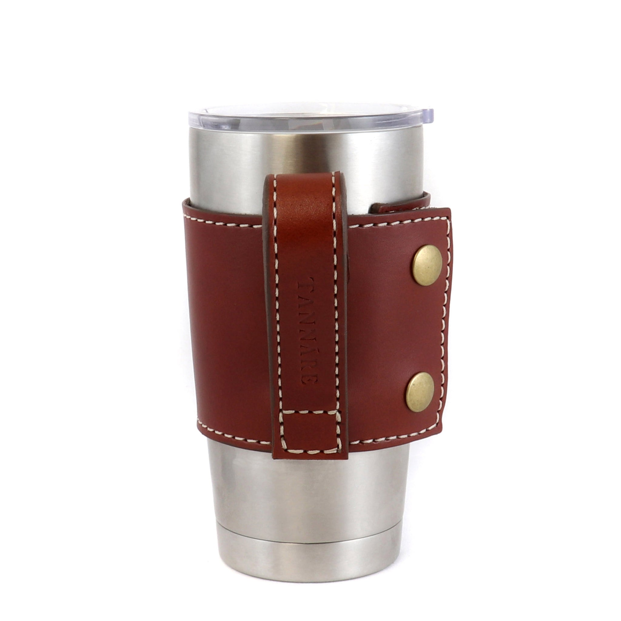Bullet Loop Leather Yeti Cup Sleeve w/Handle - 20 oz