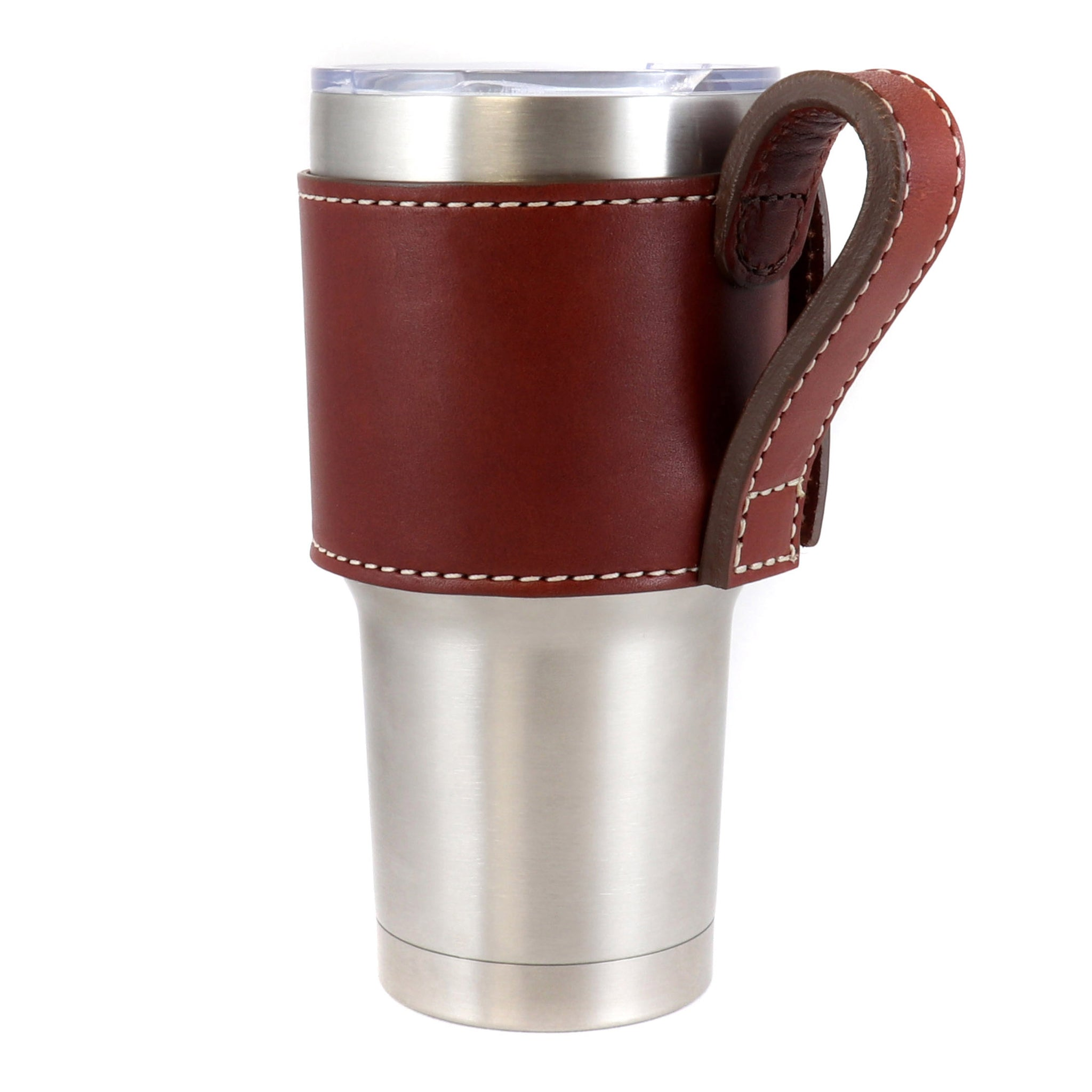 Bullet Loop Leather Yeti Cup Sleeve w/Handle - 30 oz