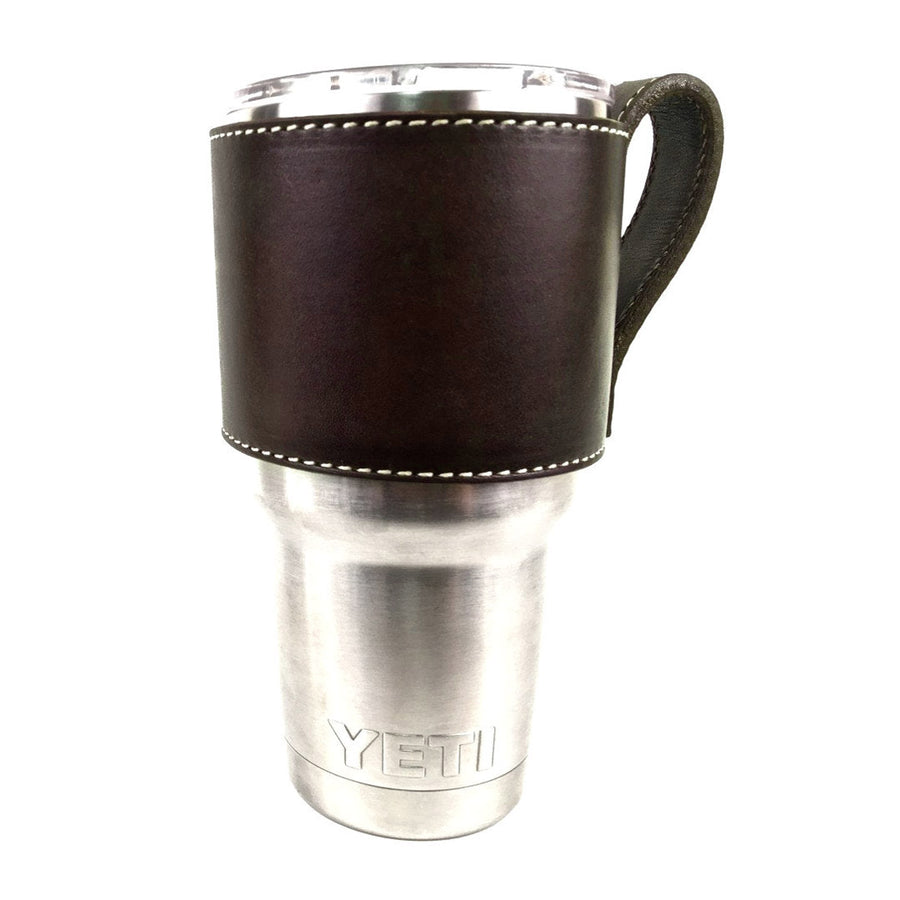 Dark Brown Yeti Cup Sleeve w/ Handle