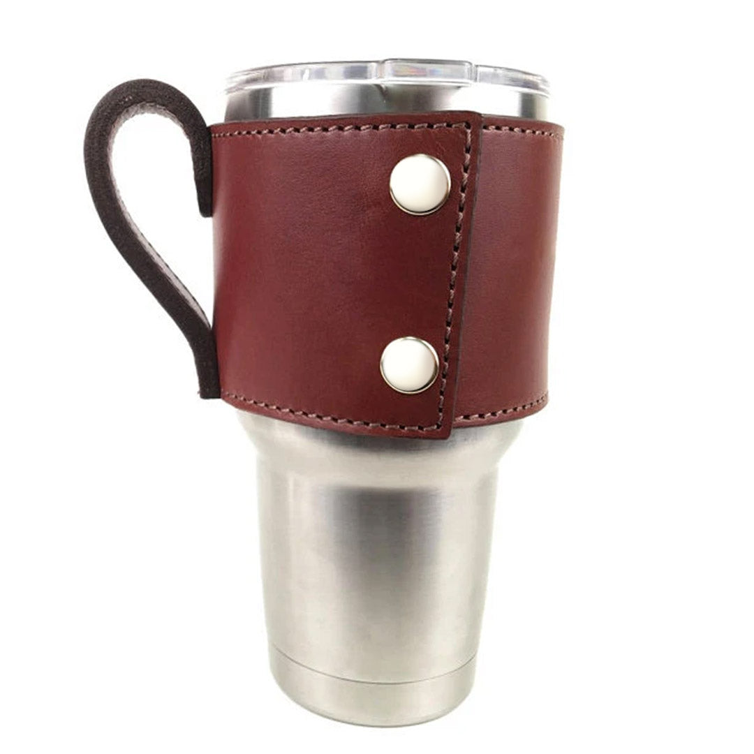 Medium Brown Yeti Cup Sleeve w/ Handle