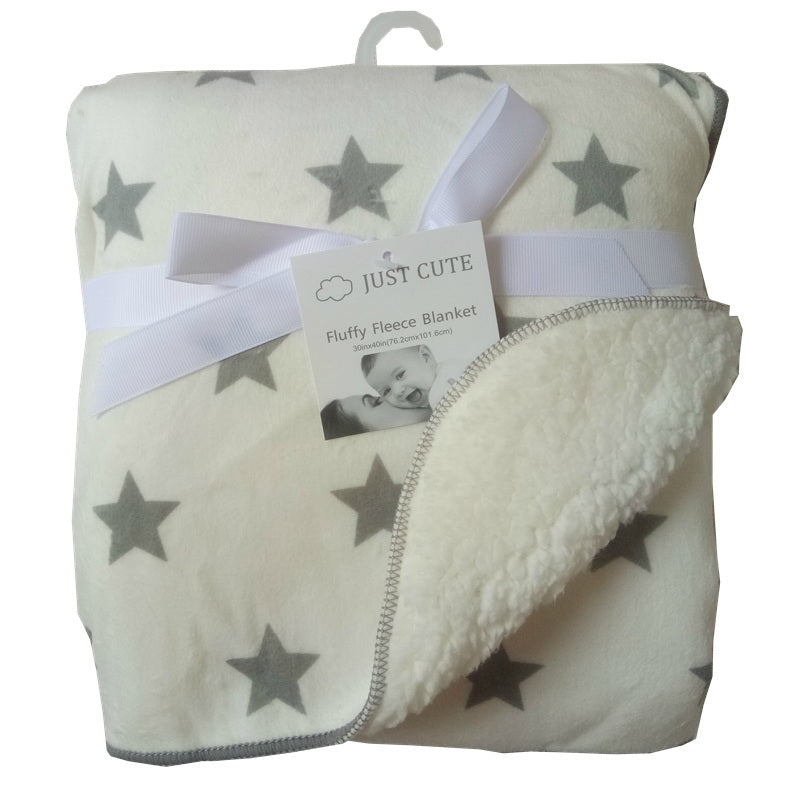 JUST CUTE Fleece Double Layer Baby Blanket For Baby Bedding Extraordinary Cute Fleece Throw Blankets