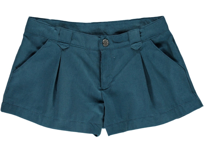 Corduroy Girl Blue Shorts