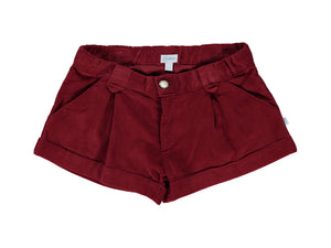 Corduroy Bordeaux Girl Shorts