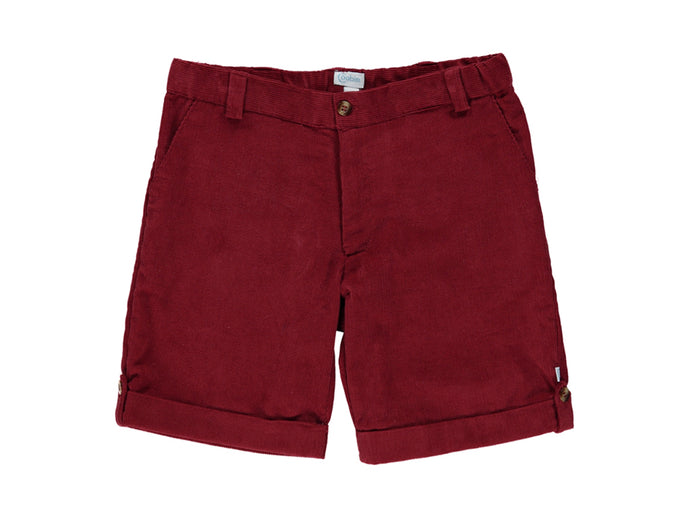 Corduroy Bordeaux Boy Shorts