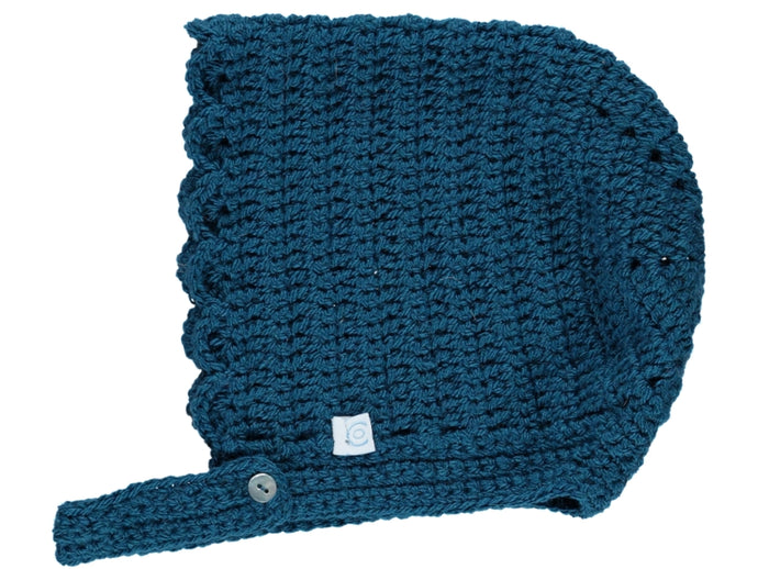 Knitted Ocean Crochet Baby Bonnet.