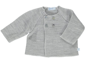 Knitted Grey Baby Cardigan