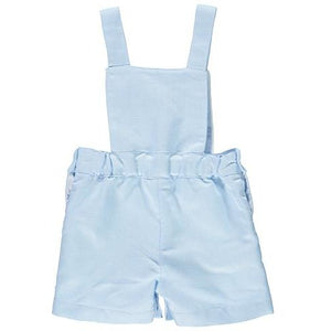 Linen Baby Boy Blue Dungarees