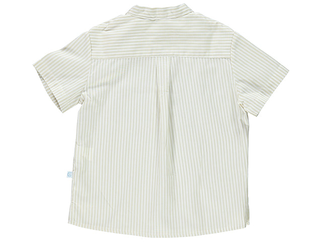 Cream Boy Striped Shirt