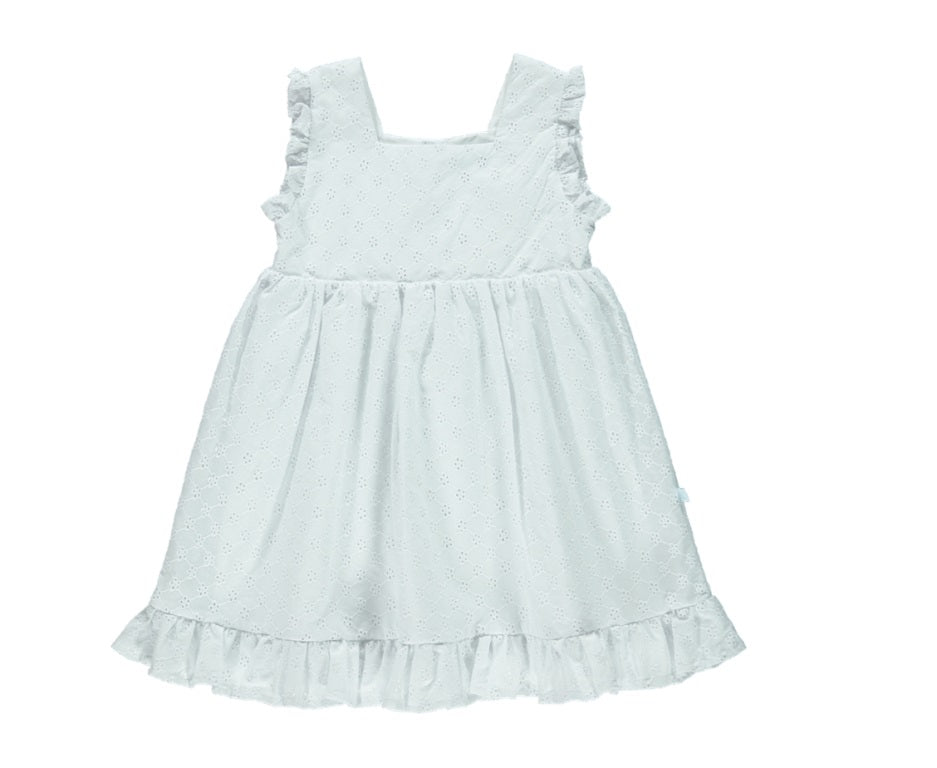 White Embroidery Girl Dress