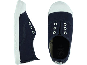 Elastic Navy Tennis Shoes