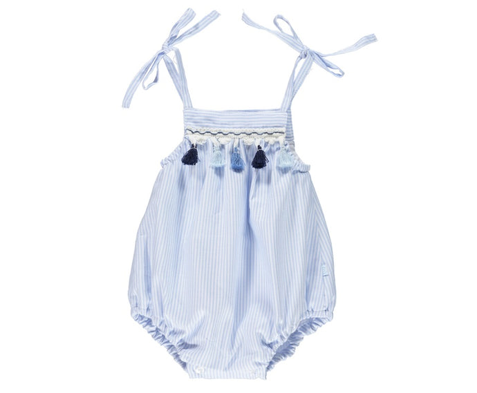 Sailor Baby Girl Blue Romper