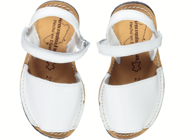 White Menorquinas Sandals