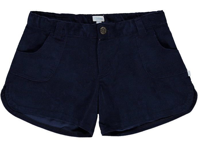 Corduroy Navy Girl Shorts