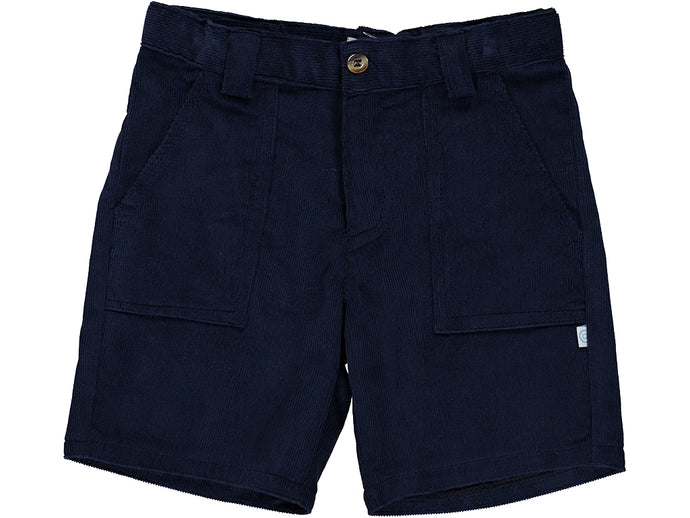 Corduroy Navy Boy Shorts
