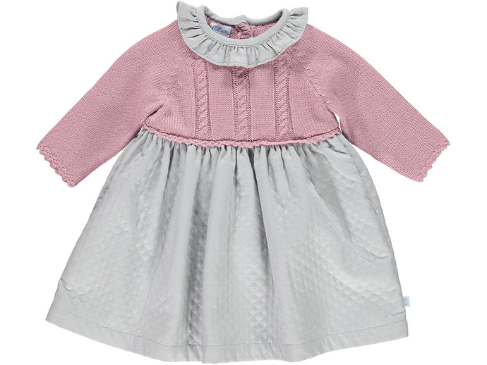 Knitted Pink Baby Dress