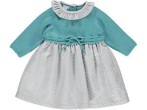 Knitted Green Baby Dress