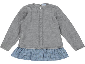 knitted Girl Grey Sweater