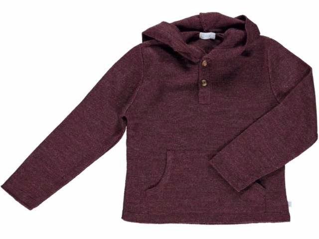 knitted Hood Bordeaux Sweater