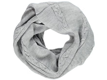 Knitted Grey Tube Scarf