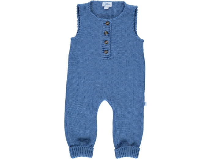 knitted Baby Blue Dungarees