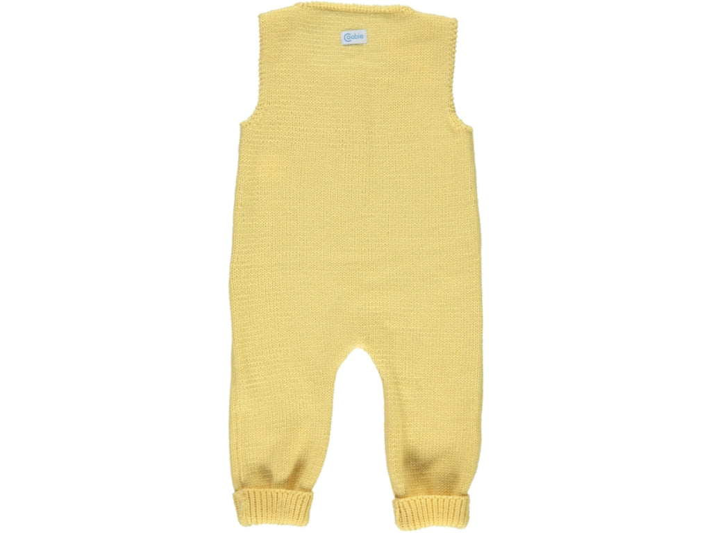 knitted Baby Yellow Dungarees