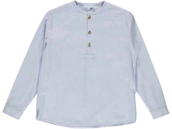 Long Sleeve Boy Blue Shirt