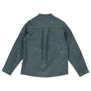 Long Sleeve Plain Boy Green Shirt