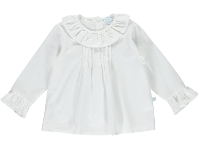 Girl Collar White Shirt