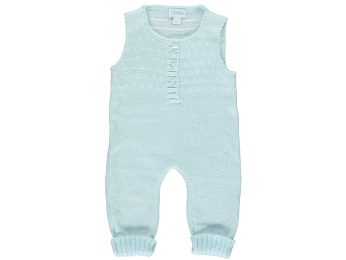 knitted Baby Dots Dungarees