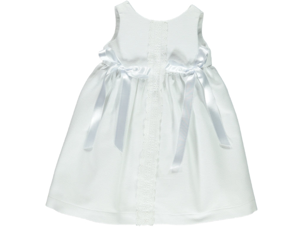 White Piquet Baby Dress