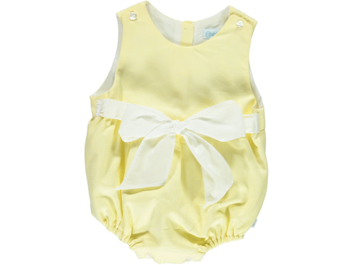 Yellow Baby Girl Romper
