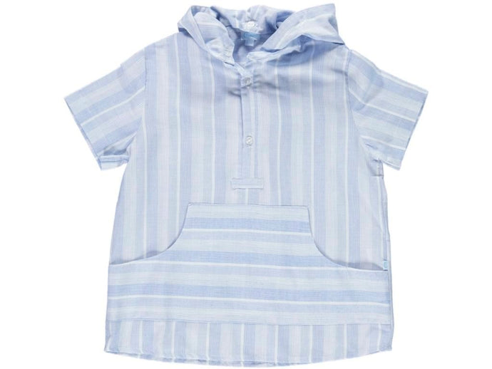 Boy Hooded Stripes Shirt