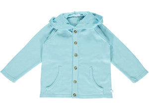Cotton Blue Hood Cardigan